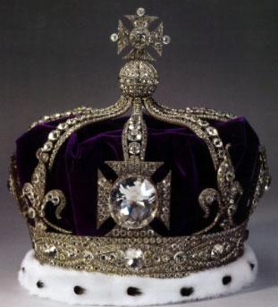 diamant ko hi noor sur couronne