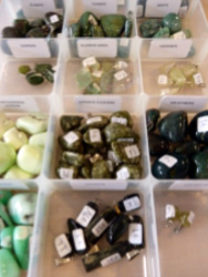 pierres vertes