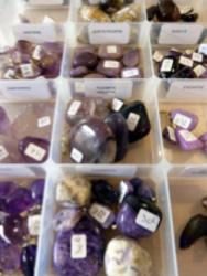 pierres couleur violet